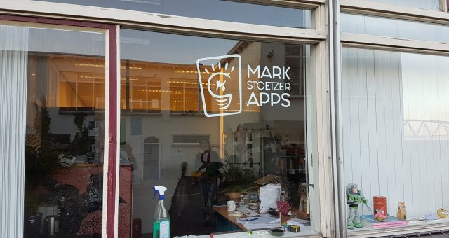 Raamsticker voor Mark Stoetzer Apps